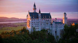 Превью обои замок, нойшванштайн, архитектура, бавария, германия