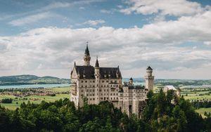 Превью обои замок, нойшванштайн, бавария, германия