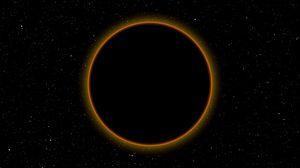 Превью обои затмение, луна, солнце, космос, темный, полнолуние