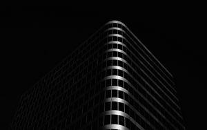 Превью обои здание, архитектура, черный, темный