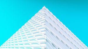 Превью обои здание, фасад, архитектура, угол, белый, минимализм, симметрия