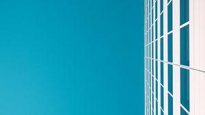 Превью обои здание, небо, минимализм, белый, голубой