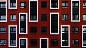 Превью обои здание, окна, архитектура, фасад