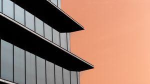 Превью обои здание, стекло, фасад, архитектура, минимализм