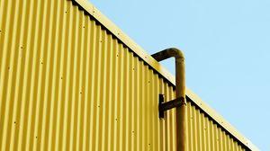 Превью обои здание, труба, желтый, минимализм