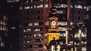 Превью обои здания, архитектура, город, ночь, сидней, австралия