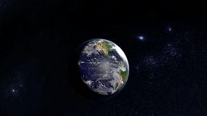 Превью обои земля, планета, космос, открытый космос, вселенная