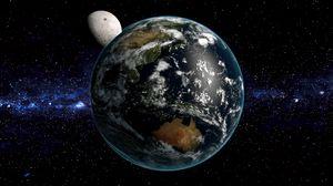 Превью обои земля, планета, космос, звезды