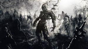 Превью обои зомби, рисунок, арт