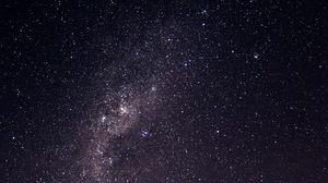 Превью обои звездное небо, галактика, млечный путь, блеск, ночь