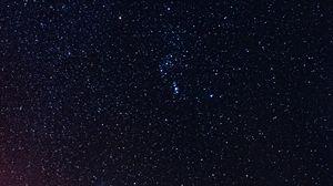 Превью обои звездное небо, космос, галактика, сияние, ночь