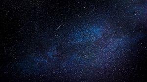 Превью обои звездное небо, ночь, галактика, блеск