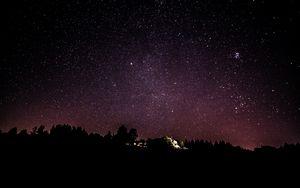Превью обои звездное небо, ночь, звезды, небо