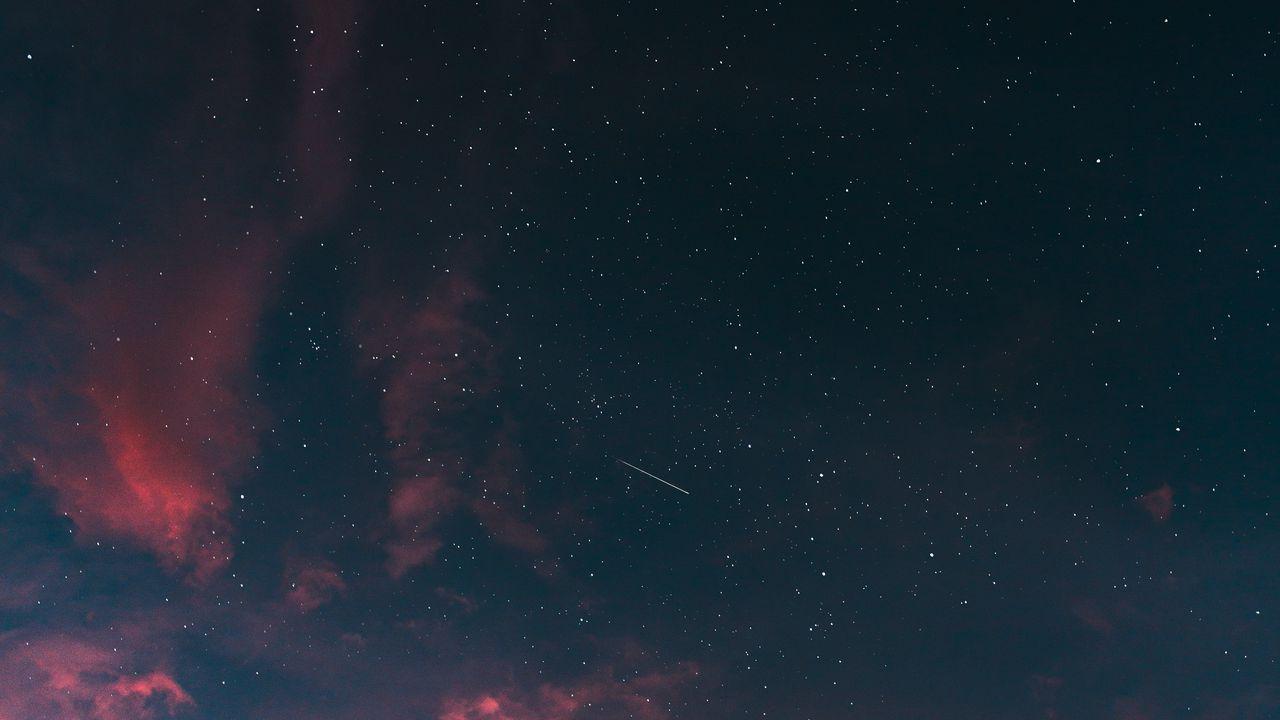 Обои звездное небо, облака, закат