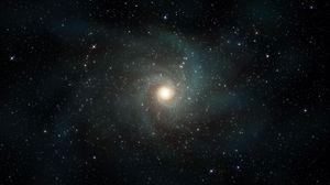 Превью обои звезды, галактика, вращение, вселенная