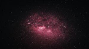 Превью обои звезды, туманность, галактика, космос, темный
