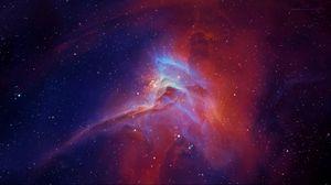 Превью обои звёзды, туманность, свечение